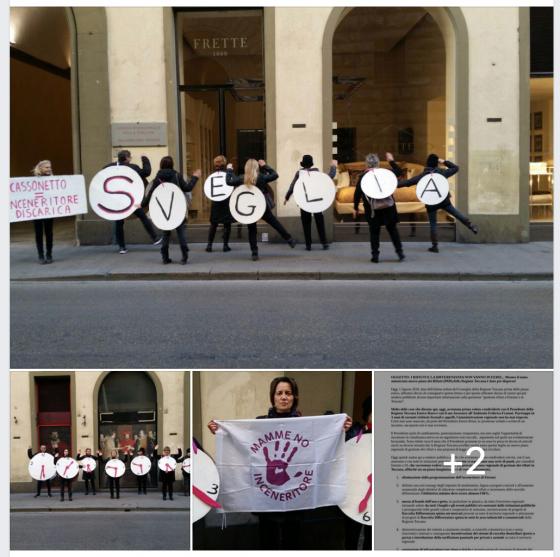 Mamme No inceneritore: flash mob sotto la Regione Toscana per dare la 'sveglia' a Rossi