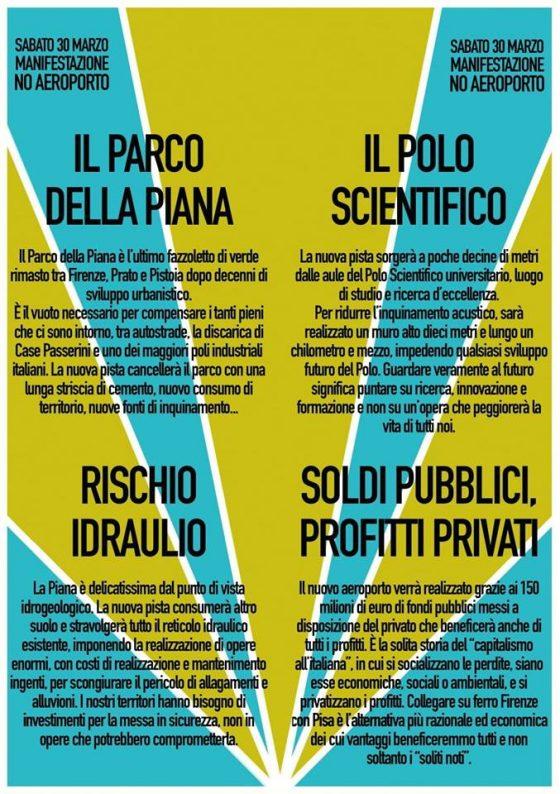 Sindaci della Piana a manifestazione contro aeroporto Firenze