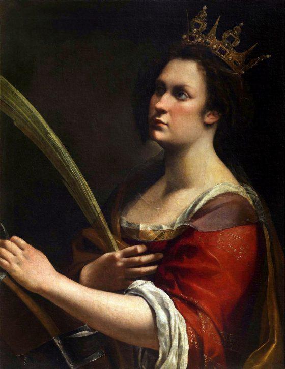 S. Caterina di Gentileschi, forse 'mash-up' autoritratto pittrice e figlia Medici