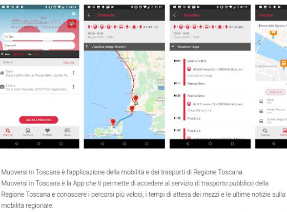 """Aggiornata app """"Muoversi in Toscana"""""""