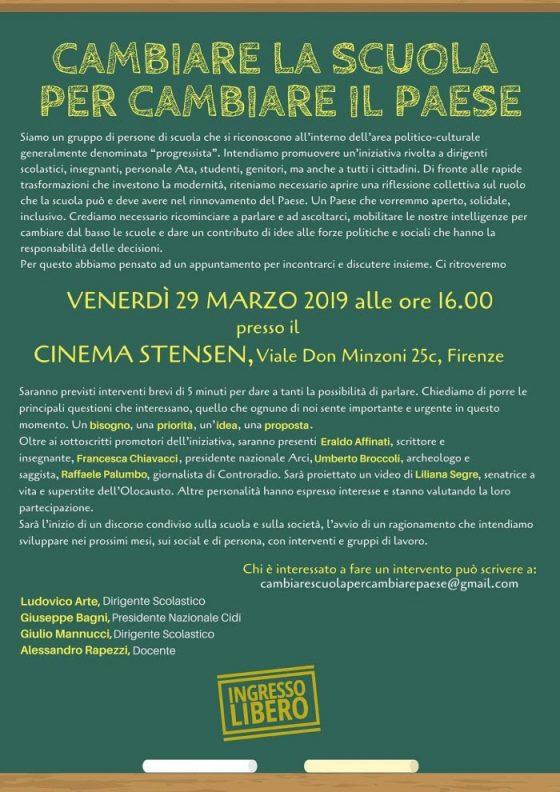 """""""Cambiare la scuola per cambiare il paese"""" allo Stensen di Firenze"""