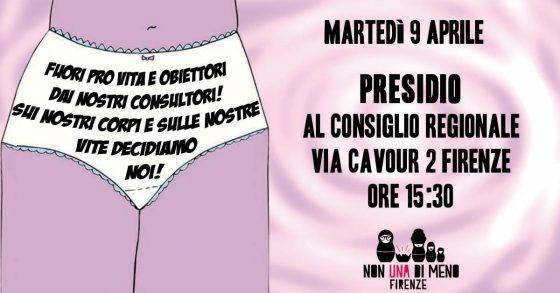 Firenze, protesta 'Non una di meno' di fronte Consiglio Regionale