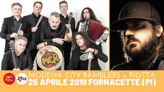 25 aprile a Fornacette! Con Modena City Ramblers e Piotta