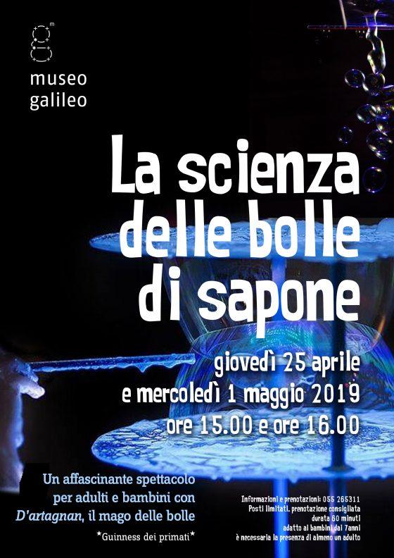 """""""La scienza delle bolle di sapone"""" al museo Galileo di Firenze"""