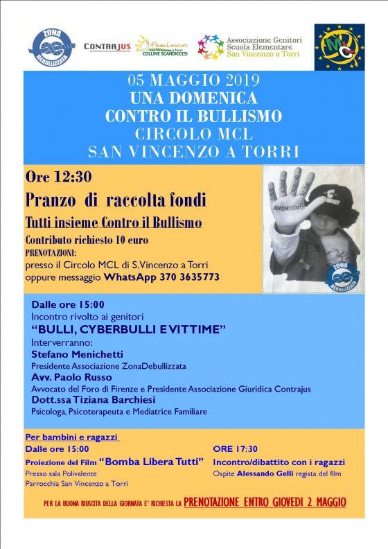 """San Vincenzo a Torri: """"Una domenica contro il bullismo"""""""