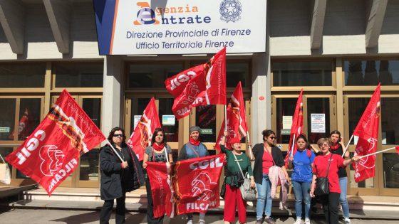Agenzia delle Entrate: sciopero-presidio lavoratori pulizie per ritardo stipendi