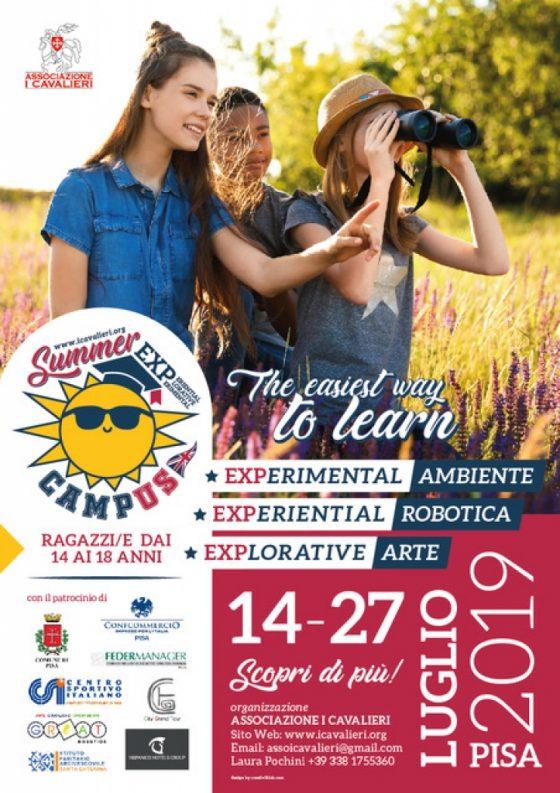 """Summer Campus Exp"": a Pisa il campus per adolescenti"