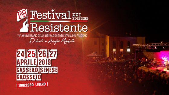 """Grosseto: da oggi XXI edizione del """"Festival Resistente"""""""