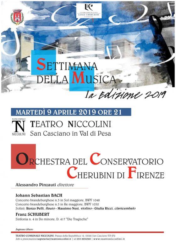 Prima edizione della Settimana della Musica. Martedì 9 aprile con Orchestra del Conservatorio Cherubini