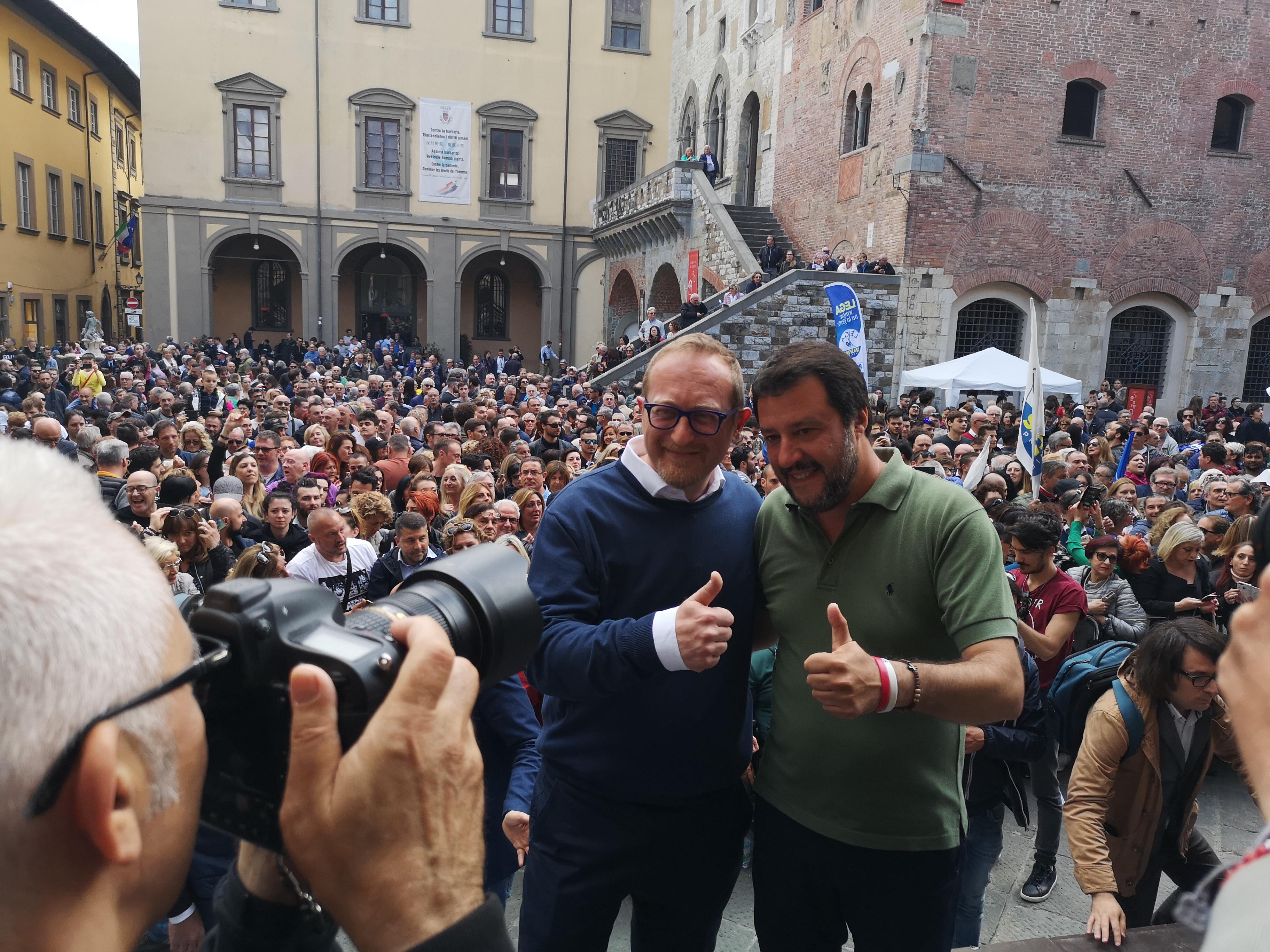 Salvini a Prato