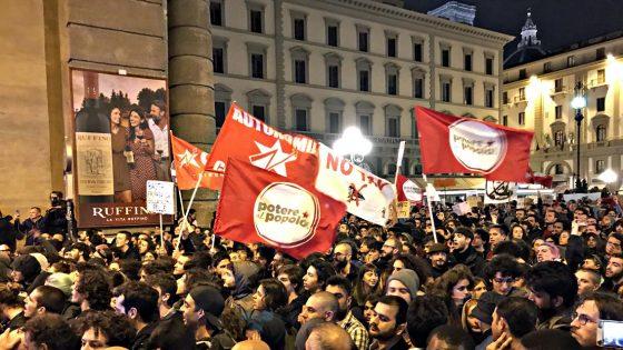 Cariche della polizia alla Manifestazione contro Salvini