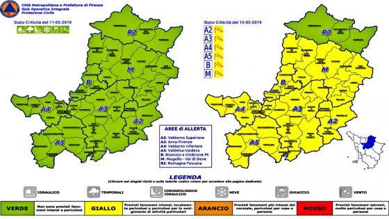 Meteo Firenze, codice giallo per temporali e vento