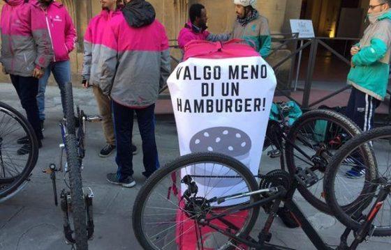 Firenze Riders: domani sciopero di 2 ore per i ciclofattorini di Glovo