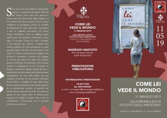 Come Lei vede il mondo Convegno al Femminile. Sabato 11 maggio Istituto degli Innocenti Firenze