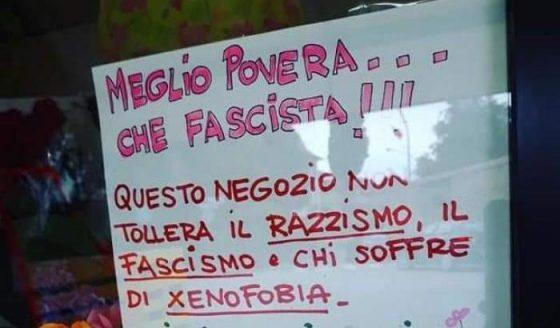 """""""Meglio povera che fascista"""": il messaggio di una fioraia di Empoli contro l'odio dilagante"""