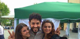 Andrea Barabotti, al centro, con la cocordinatrice regionale della Lega, Susanna Ceccardi, a destra, e la cosigliera regionale elisa Montemagni, a sinistra