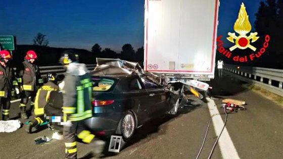 Incidente mortale sulla A1 direzione Firenze