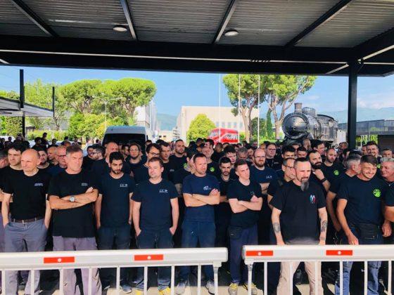 Nuovo sciopero alla Hitachi Rail di Pistoia