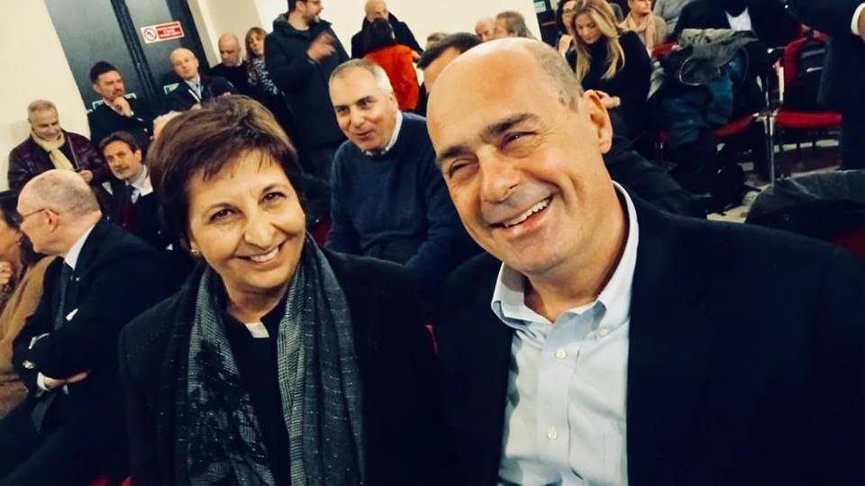 Pd: Rosa Maria §Di Giorgi e Nicola Zingaretti