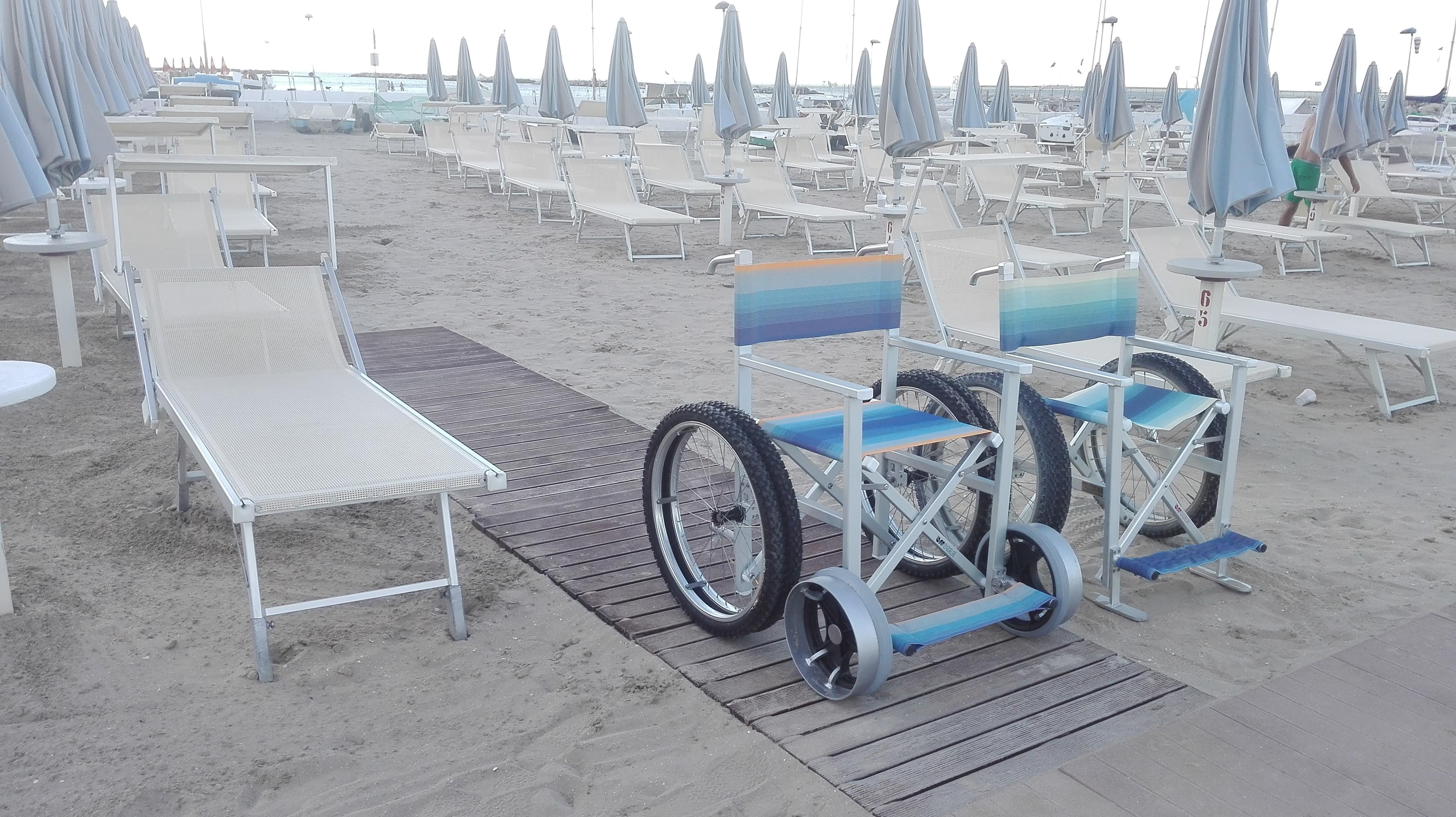 una delle spiagge accessibili