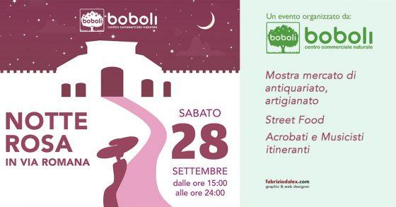 Notte Rosa stasera in via Romana, bancarelle, musica e mostre