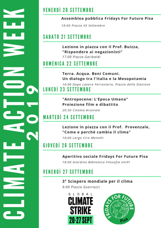 Pisa, Fridays for Future lancia la Climate Action Week