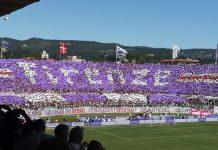 Fiorentina-Juventus, la coreografia dei tifosi