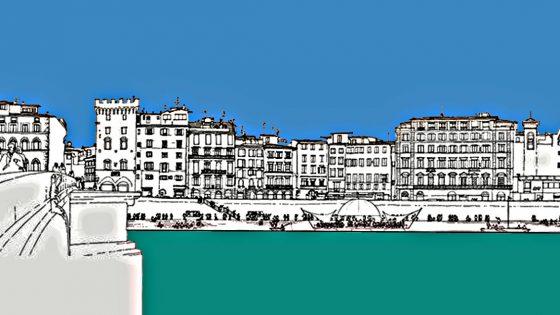 Per il 'Parco lineare dell'Arno', progetto di Rogers del 1983