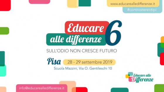 Il 28 e 29 settembre a Pisa torna il Meeting nazionale di 'Educare alle differenze'