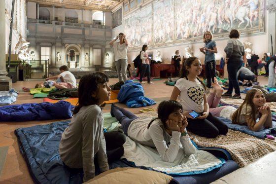 Una notte al Museo: in sacco a pelo nel Salone dei Cinquecento