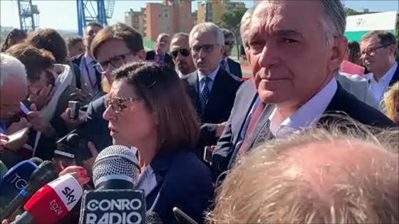 Sopralluogo Ministra De Micheli cantiere Foster e manifestazione NoTav