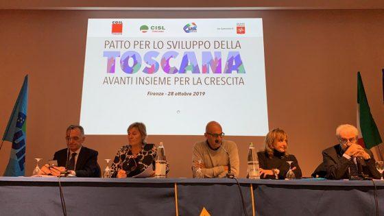 Cgil Cisl Uil Toscana, politica acceleri su patto sviluppo