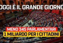 M5S sono da sempre favorevoli al taglio dei parlamentari