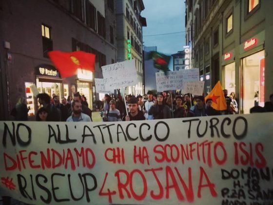 Raid Turchi in Siria: oggi manifestazione sotto consolato USA a Firenze