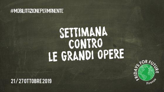 Mobilitazione permanente di Fridays For Future contro Grandi Opere