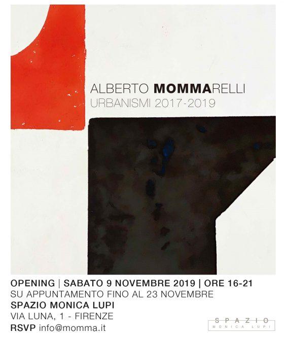 Mostre: Urbanismi 2017-2019, personale di Alberto Mommarelli a Firenze