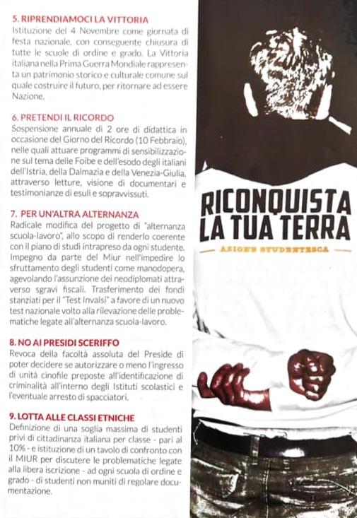 Azione Studentesca chiede  tetto 10% alunni stranieri in classe: a  Pistoia c'è chi dice no!