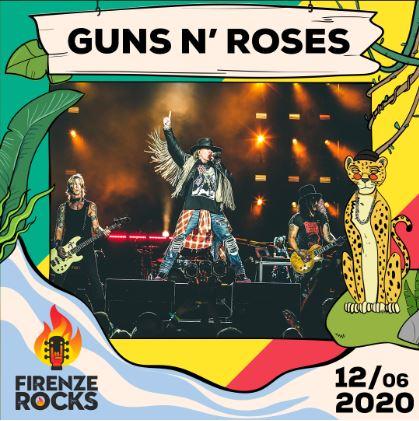 Guns N' Roses a Firenze Rocks 2020