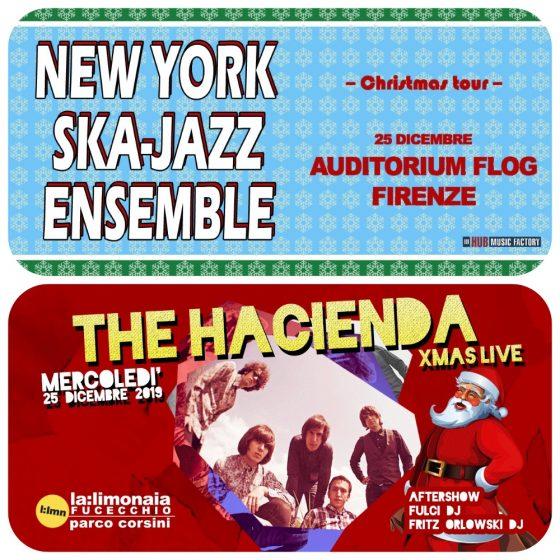 Natale in musica con The Hacienda e New York Ska Jazz Ensemble!