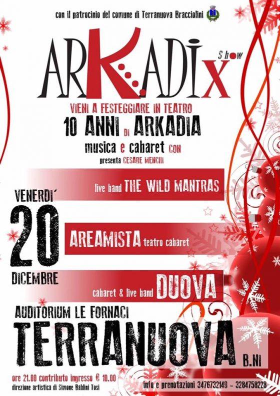 Solidarietà: a Terranuova B.ni un grande spettacolo per sostenere Arkadia
