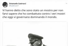 Castrucci, tweet pro hitler