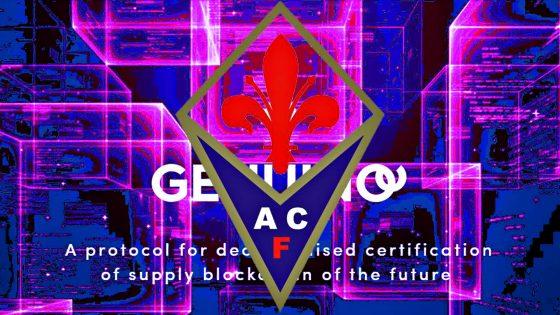 Maglie Fiorentina con Genuino Blockchain Technologies