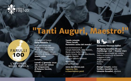 """""""Tanti Auguri, Maestro"""" omaggio a Piero Farulli"""