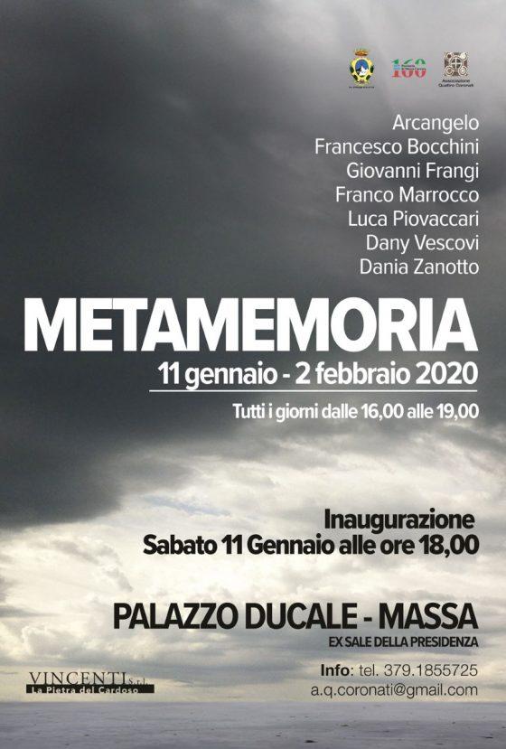 """Al Palazzo Ducale di Massa al via da domani la mostra """"Metamemoria"""""""