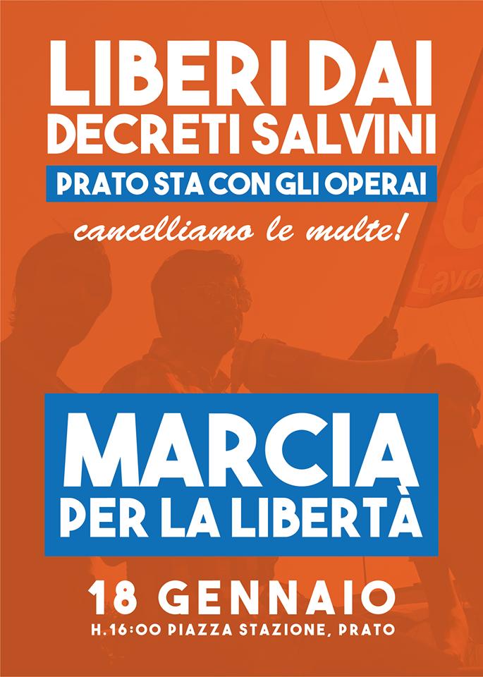 manifestazione contro decreti Salvini