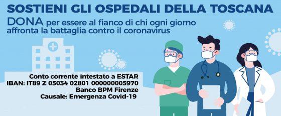 Coronavirus, Toscana: Campagna di donazioni per sostenere ospedali