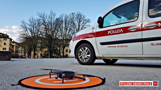 Polizia Municipale di Lucca attiva i controlli con i droni