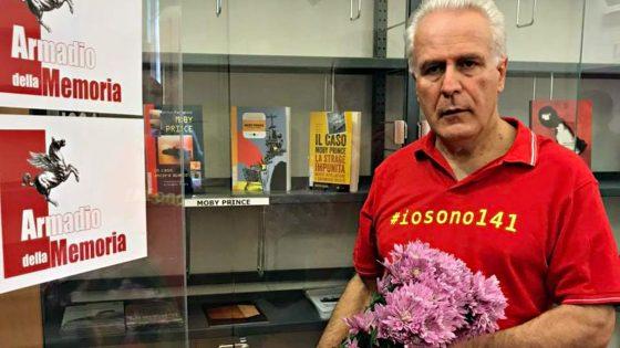 Moby Prince: Giani depone fiori davanti Armadio della Memoria