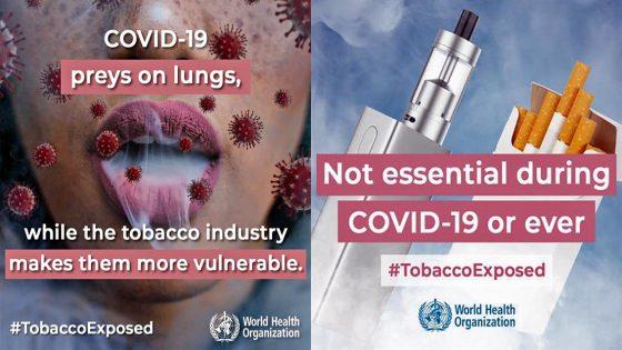 Giornata Mondiale Senza Tabacco, in tempi Covid-19