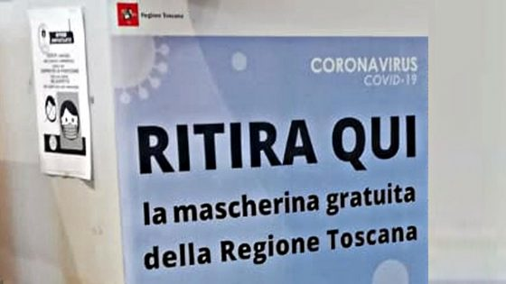 In edicola dal 5 giugno, mascherine gratuite Regione Toscana